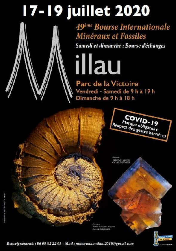Scambio di minerali fossili e scambio di Millau 2020