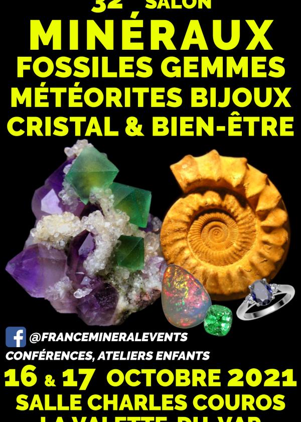 32a fiera dei minerali La Valette-du-Var - Minerali, fossili, cristallo e benessere, gemme, gioielli
