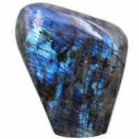 Ornamento di labradorite blu a forma libera