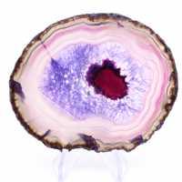 Fetta di agata viola