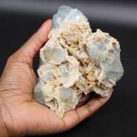 Cristalli di fluorite azzurra