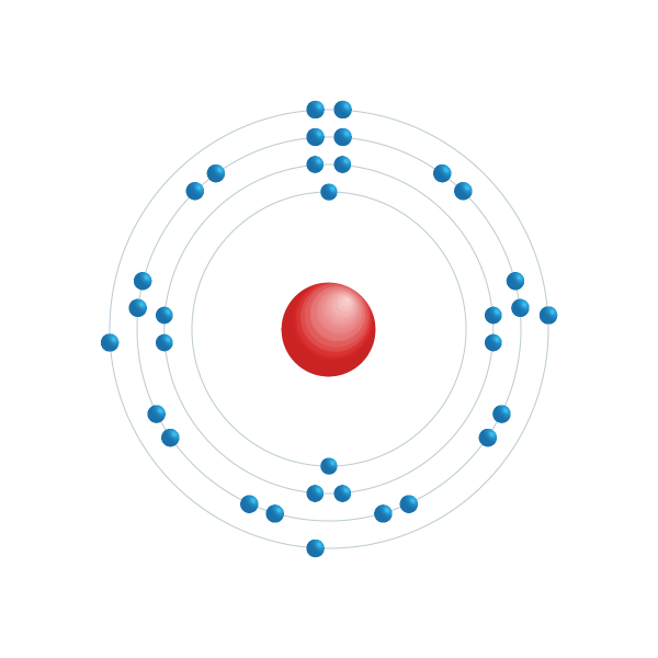arsenico Schema di configurazione elettronico