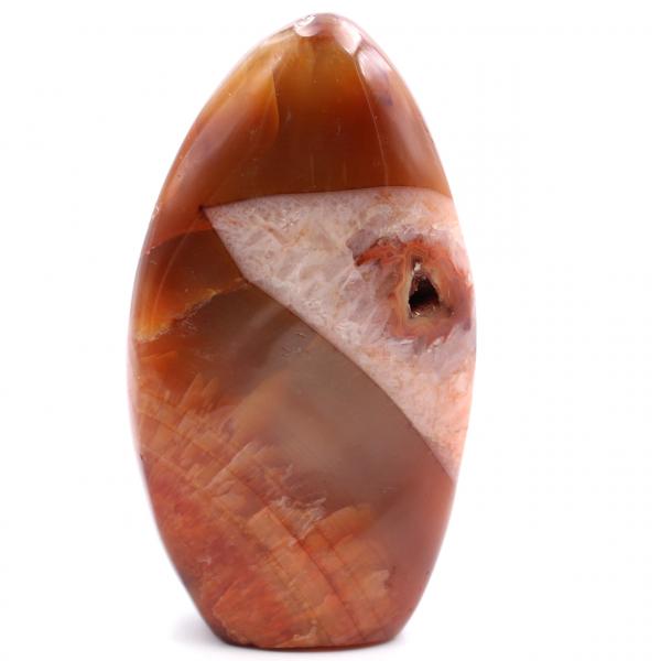 Pietra corniola a forma libera completamente lucidata