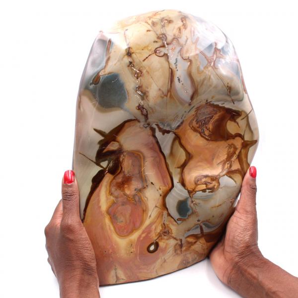 Grande blocco di diaspro stampato 10 kg, pietra ornamentale