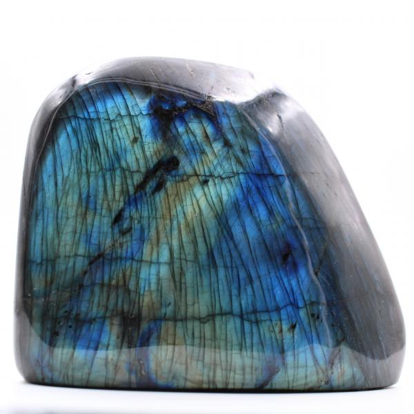 Blocco di labradorite con riflessi blu