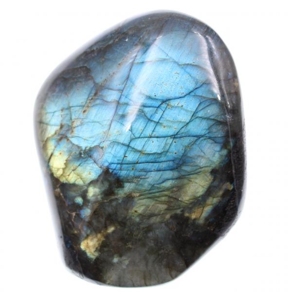 Pietra decorativa in labradorite, riflessi blu