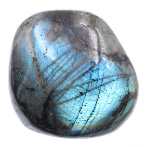 Pietra di labradorite blocco lucido blu