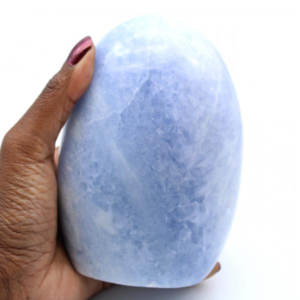 Calcite blu lucidata del Madagascar