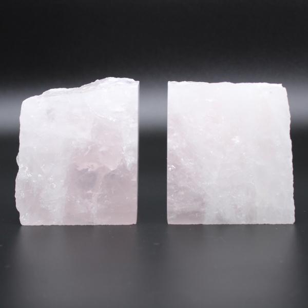 Fermalibri quarzo rosa 2 pezzi