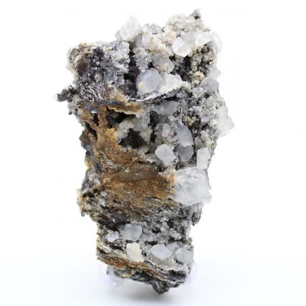 Blocco di cerusite galena e barite